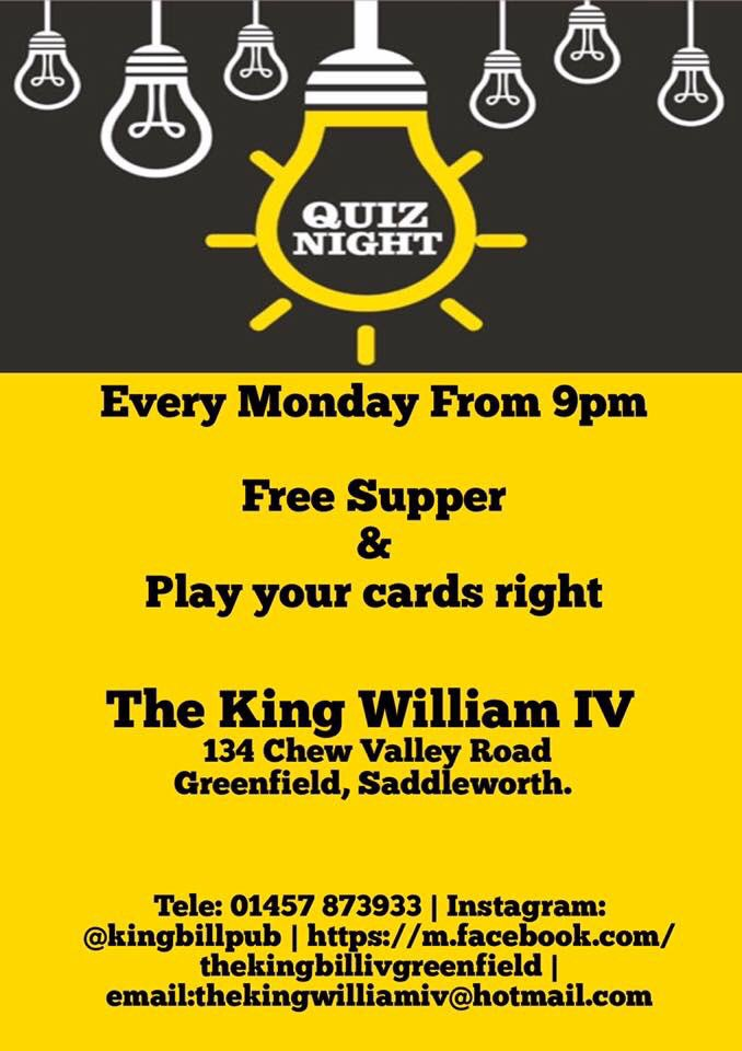 night cook the king william iv on twitter monday motivation its quiz