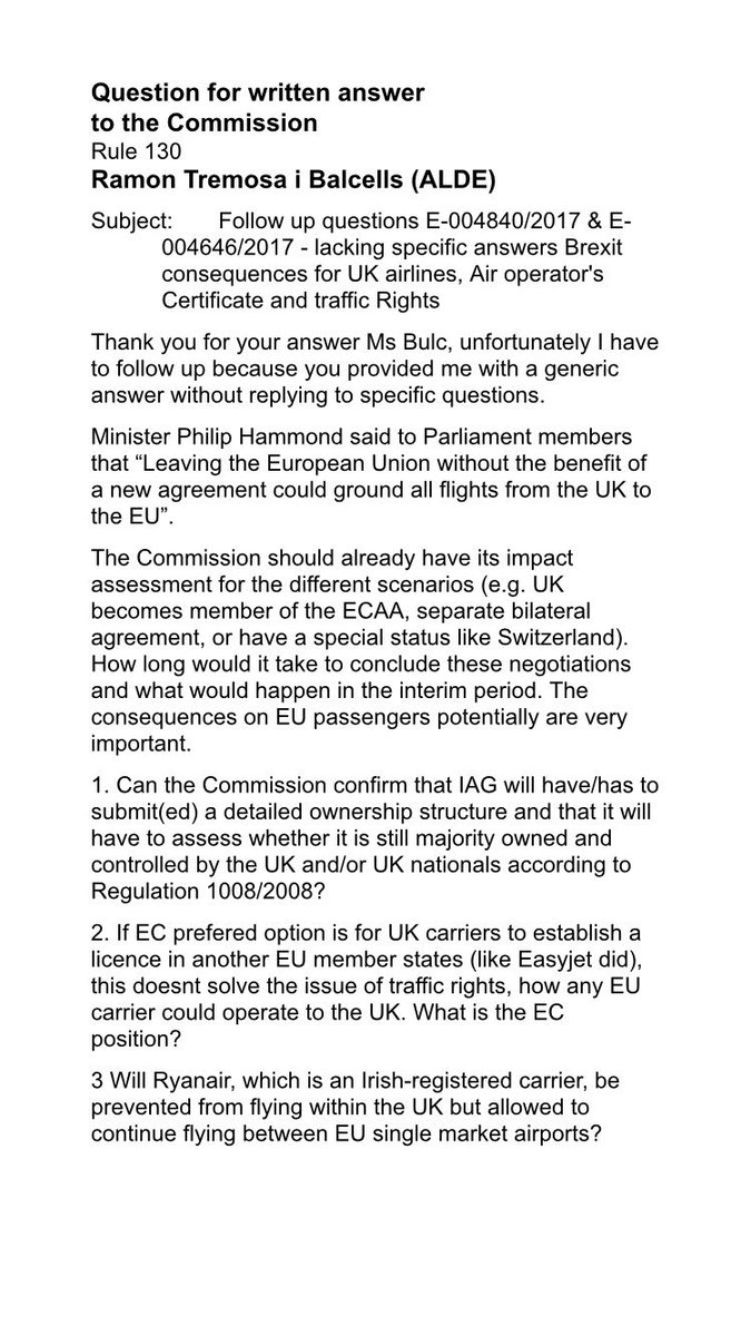 Umberto gambini on twitter following bulceu reply umberto gambini on twitter following bulceu reply ramontremosa on brexit aviation effects further questions transporteu a4europe tabled 1betcityfo Choice Image