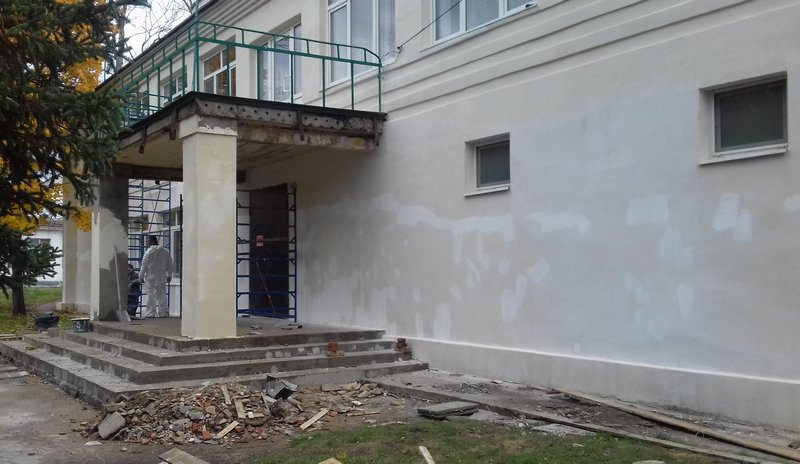 Завершается ремонт фасада