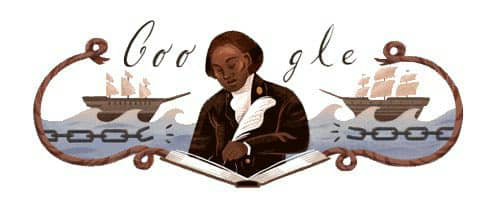 Today marks the 272nd birthday of #OlaudahEquiano, one of the greatest figures in the 18th century. A pioneering abolitionist, his memoir The Interesting Life of Olaudah Equiano went through nine editions in his lifetime! Hei, he don do well o! #BHM   #GoogleDoodle <br>http://pic.twitter.com/4ToPzX7a3K