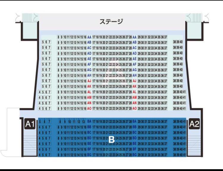 グラン キューブ 大阪 座席 表