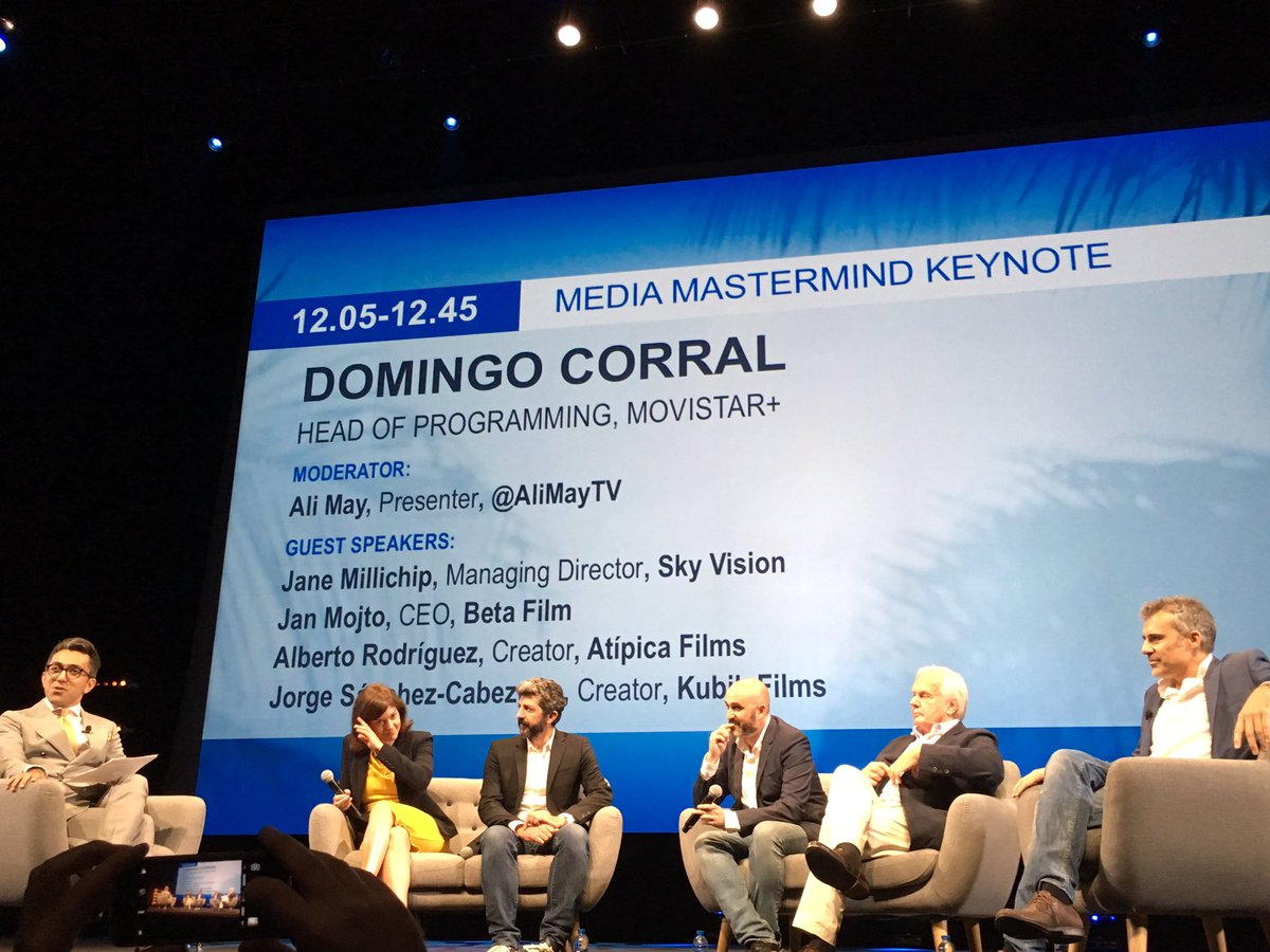 Local content made by local creators! @movistar_es @Docorral  #Movistar :12 shows a year one a month. Netflix only 1 or 2 a year #MIPCOM<br>http://pic.twitter.com/PStDwRYgCP