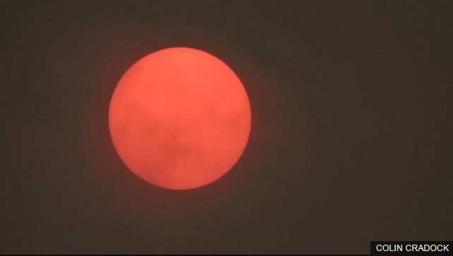 The #RedSun phenomenon currently seen across England has been caused by Hurricane Ophelia, experts say https://t.co/VJdomLDWsm