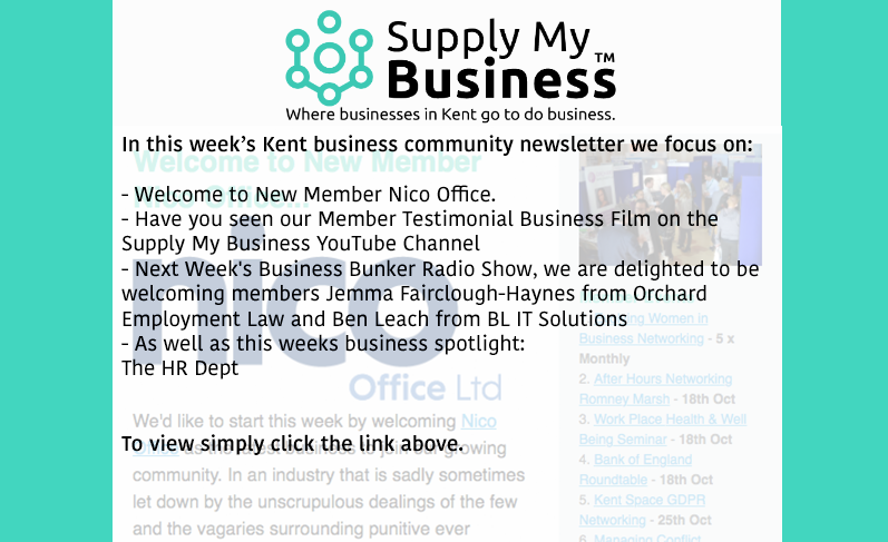 Keep up to date with #KentBiz #B2B community events, promotions &amp; more by catching up with our weekly newsletter at;  http:// ow.ly/mgBN30fQM57  &nbsp;  <br>http://pic.twitter.com/CpRwSw15yE