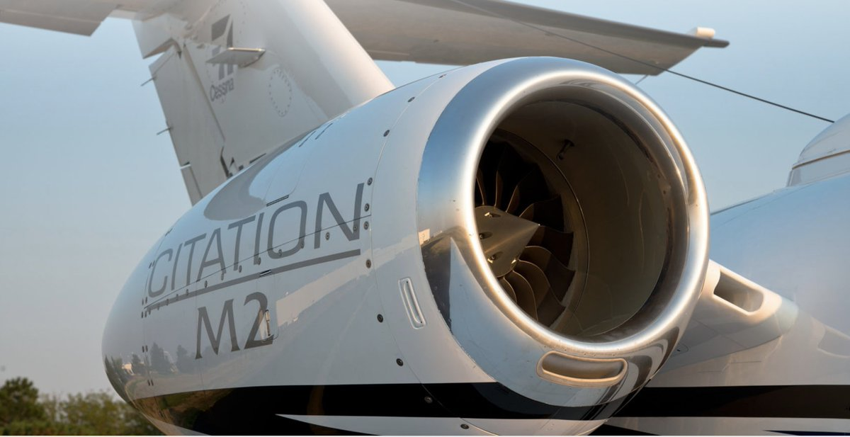 A nice close up of a Williams FJ44 engine on the #Citation #M2 that produces just over 1,900 lbs of thrust.   #Cessna <br>http://pic.twitter.com/C8CZRWOndL