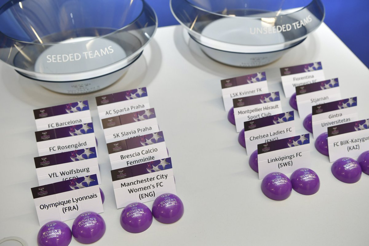City will face @LSKKvinner in the @UWCL Round of 16.   Ties to be played 8/9 (away) and 15/16 November (home).  More to follow... #mancity <br>http://pic.twitter.com/avin8JXVUW