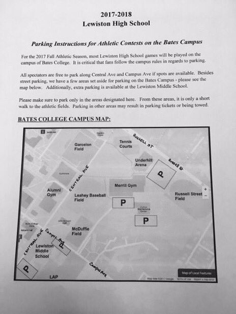 Bluedevil Athletics On Twitter A Reminder About Parking At Bates