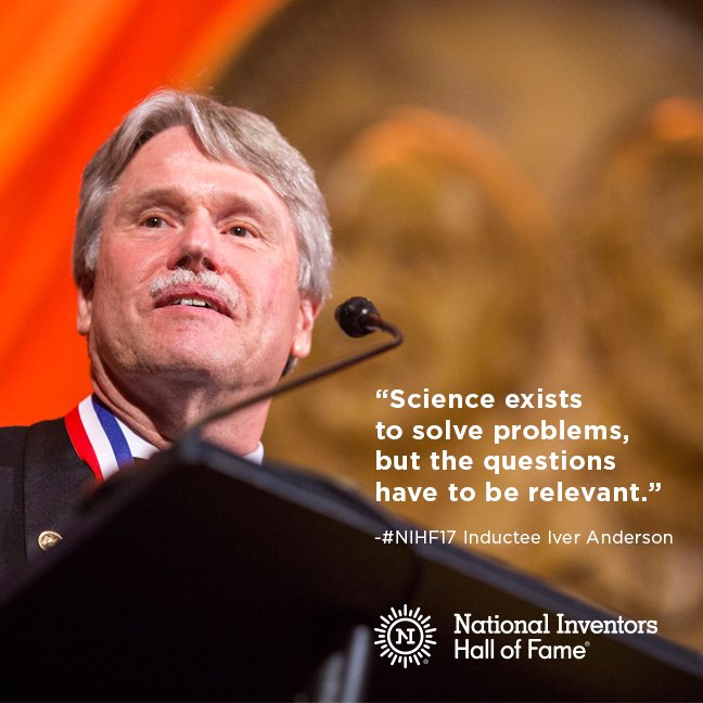 Just because someone says it's impossible to #solve a #problem, doesn't mean you should believe them  #NIHF #Innovation #InventorsHOF<br>http://pic.twitter.com/0b7z56svU9