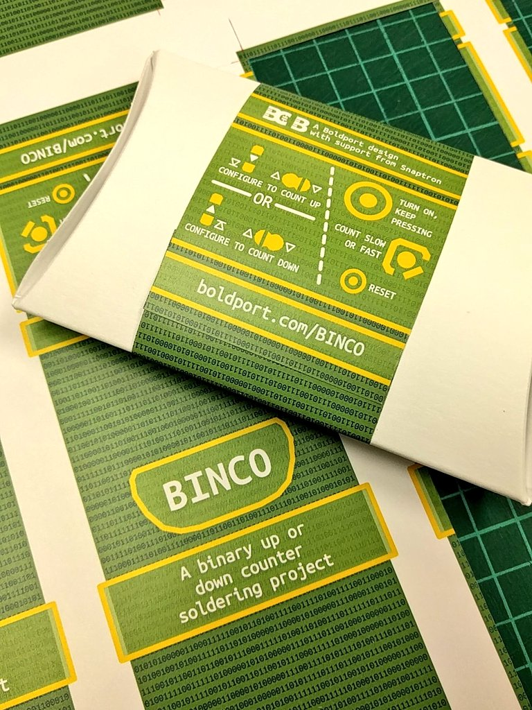 More packaging tests #BoldportClub BINCO