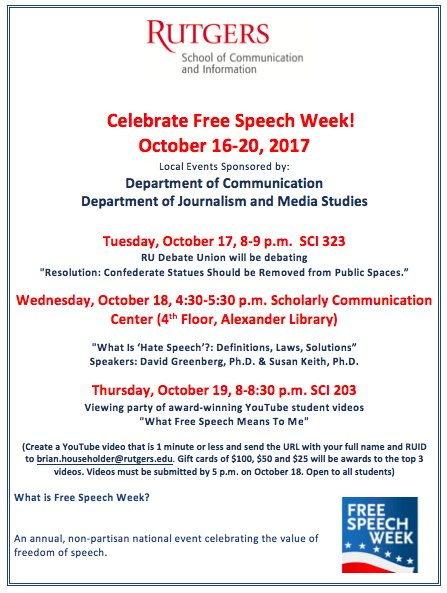 Rutgers School Of Communication And Information On Twitter Free Sch Week Begins Today Take Part In Events At Rusci Celebrate Your Right To