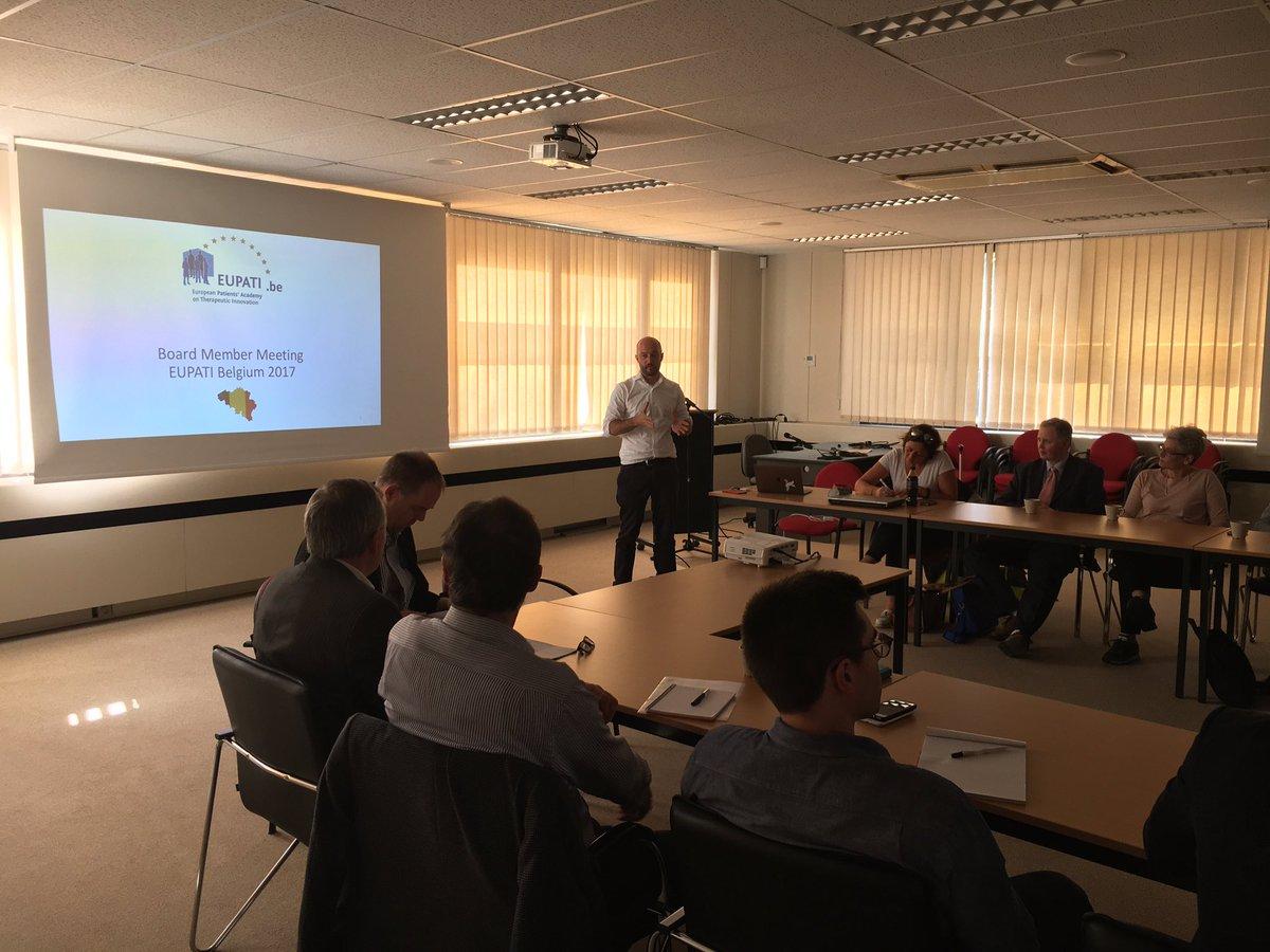 EUPATI Belgium brings together patients, academia &amp; industry together at 1st Advisory Board #EupatiBelgium #PatientInvolvement <br>http://pic.twitter.com/DwQXM7aAHJ