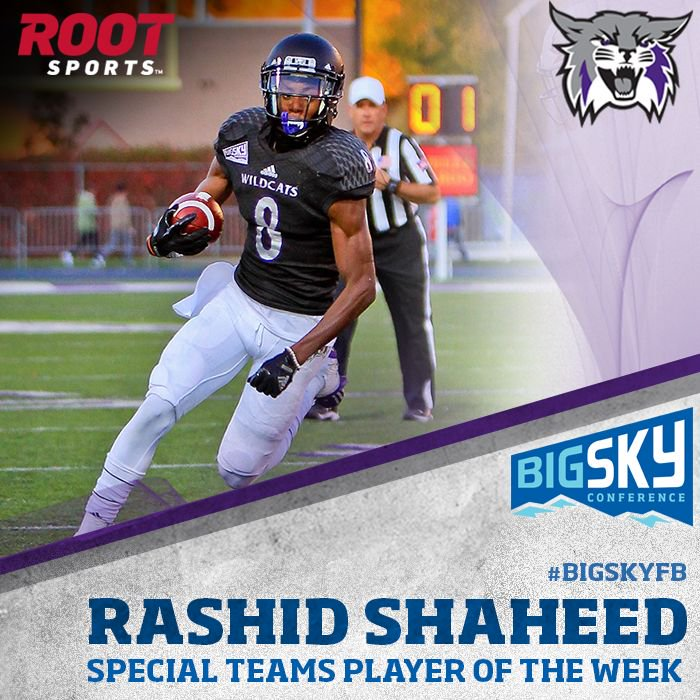 S/O to @weberstatefb's Rashid Shaheed th...