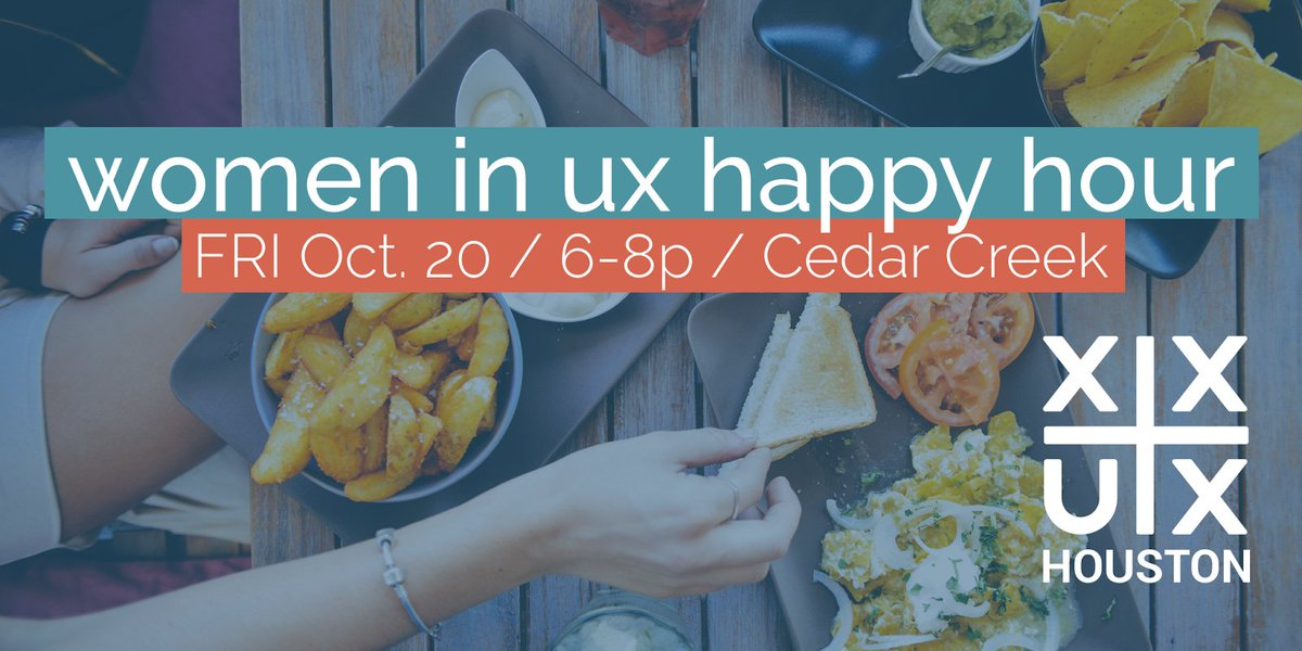 Join us this Friday for #xxux happy hour at Cedar Creek! RSVP here:  https:// buff.ly/2ypKPch  &nbsp;  <br>http://pic.twitter.com/JL25XbWRGP