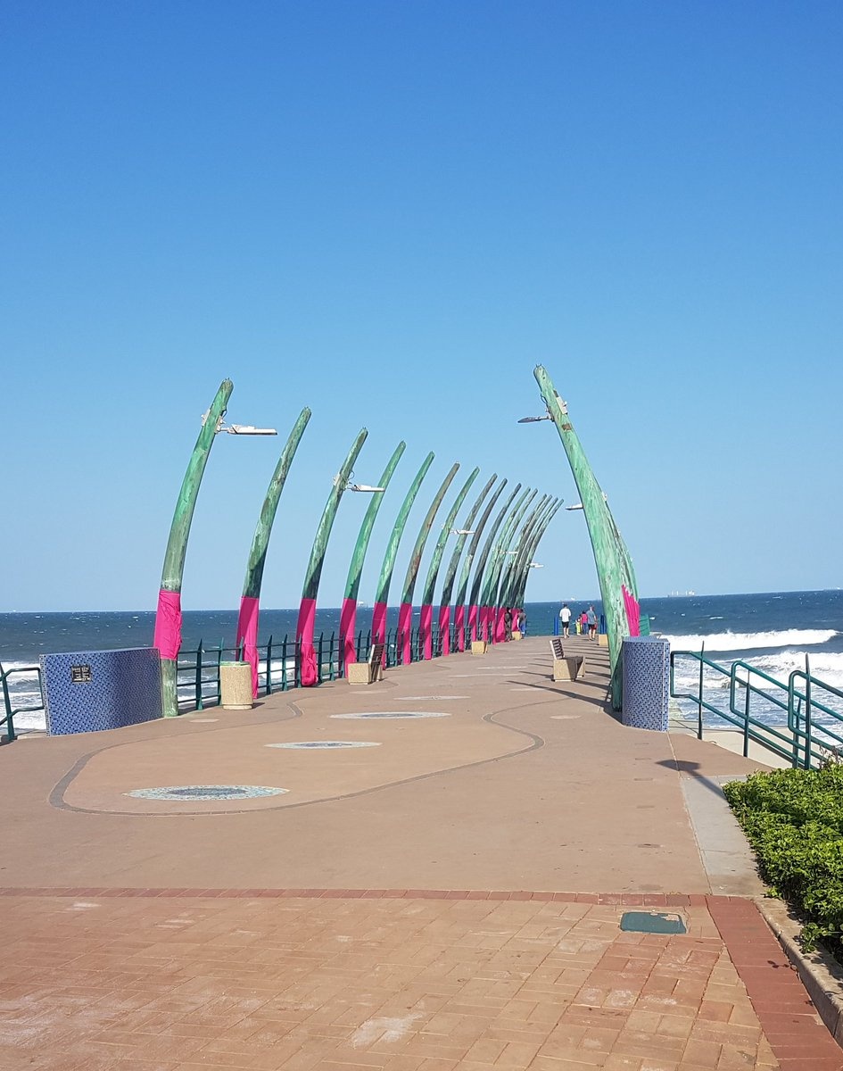 The #Umhlanga Pier dressed up for Breast cancer awareness month. <br>http://pic.twitter.com/NMK7ECDCyh