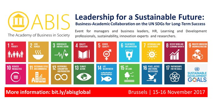 http:// bit.ly/abisglobal  &nbsp;    #Leadership for a #Sustainable #Future: #Business - #Academic #Collaboration on the UN #SDGs for #LongTerm #Success<br>http://pic.twitter.com/2dgnkwiVgh