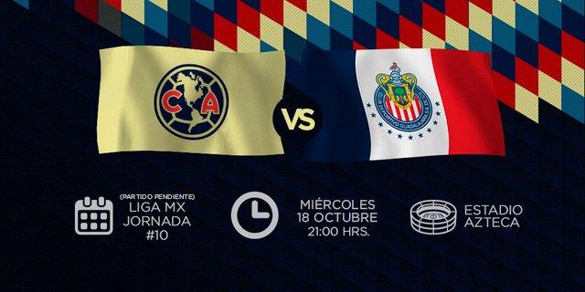 #HoyJugamos  @ClubAmerica 🆚 Guadalajara 🏟 @EstadioAzteca ⏰ 21:00 hrs....