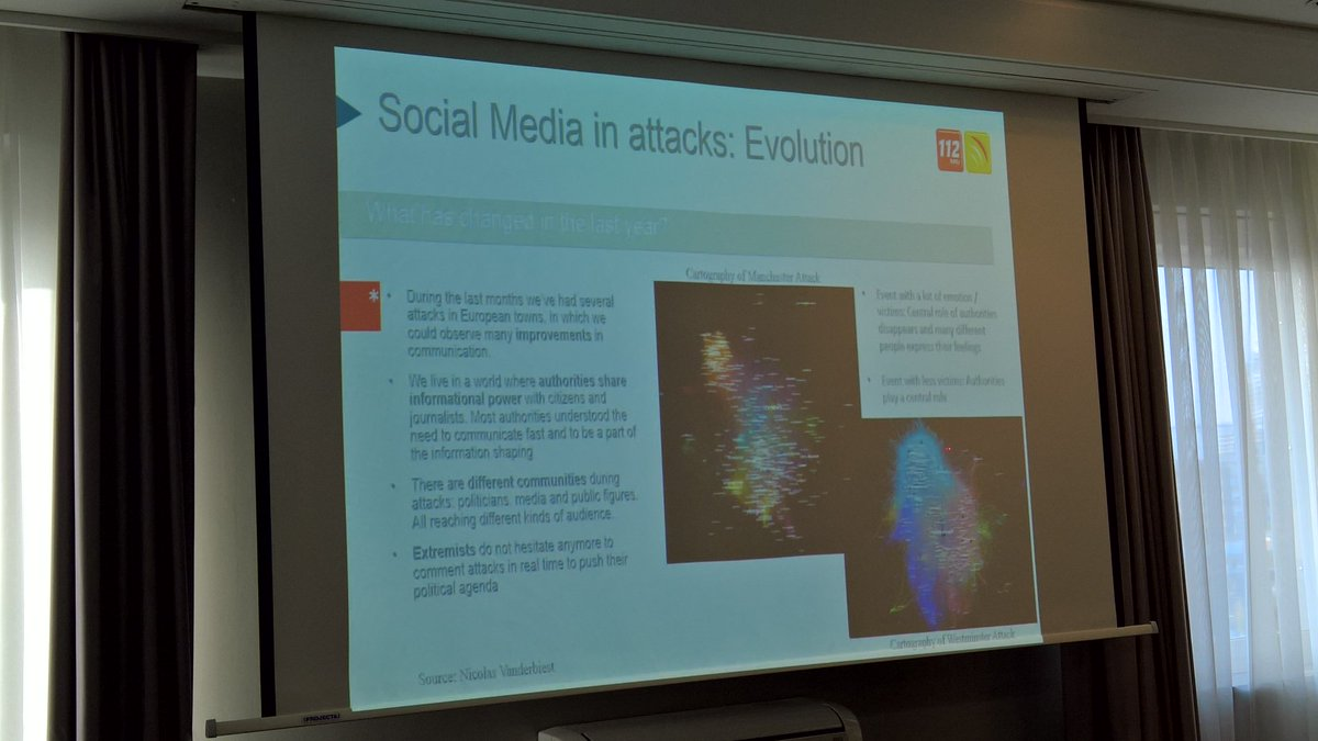 Several #some tools for emergency response services:  #tweetdeck , #scatterblocks , #tineye and many more are already in use. #makeEUsafe<br>http://pic.twitter.com/0NaEamal3u