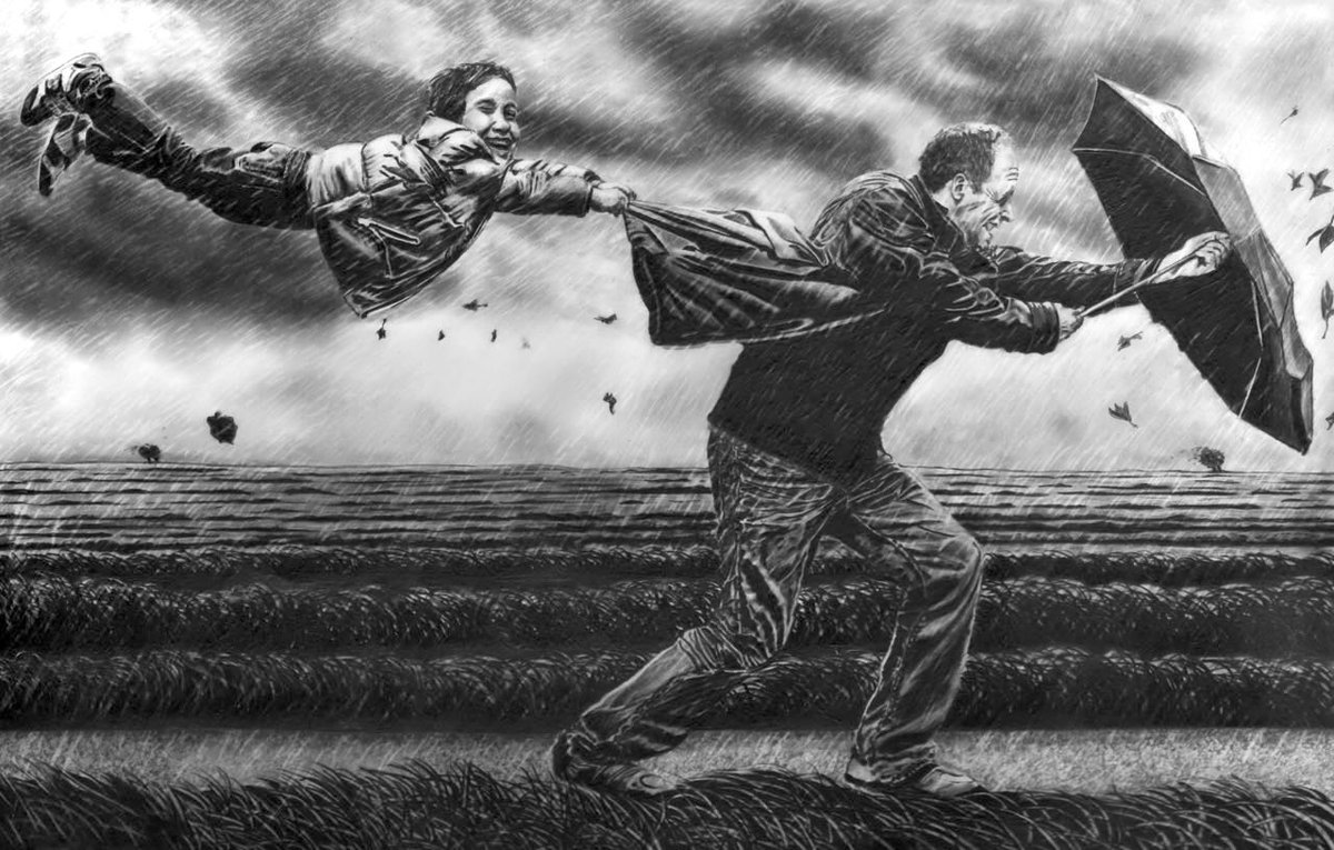 Definately one of these days today, keep safe everyone - drawn with @FaberCastell #pencils   http://www. stowe.gallery  &nbsp;   #StormOphelia<br>http://pic.twitter.com/fWU9QrRzmO