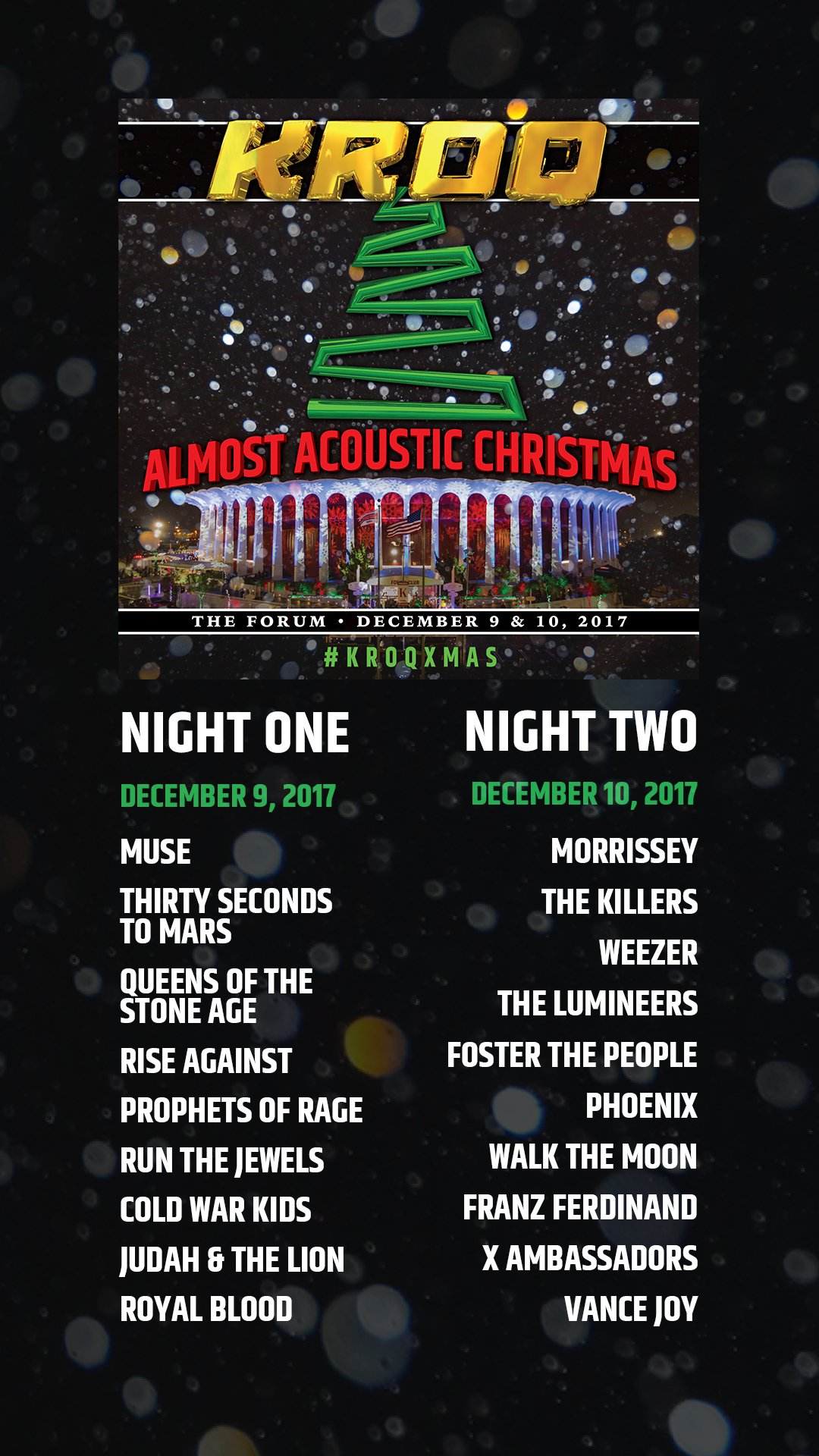 muse on twitter muse are headlining kroqs almost acoustic christmas in los angeles on december 9th details at httpstco4zo3hnxu0d kroqxmas - Kroq Christmas