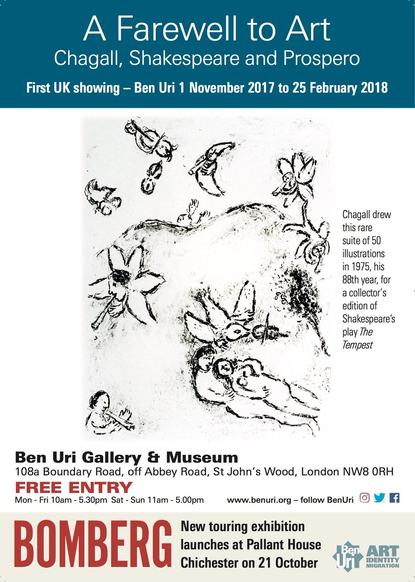 Thanks to everyone who came to see 'Using Art Differently'! We are now CLOSED until our new exhibition 'Chagall and Shakespeare' opens 1/11