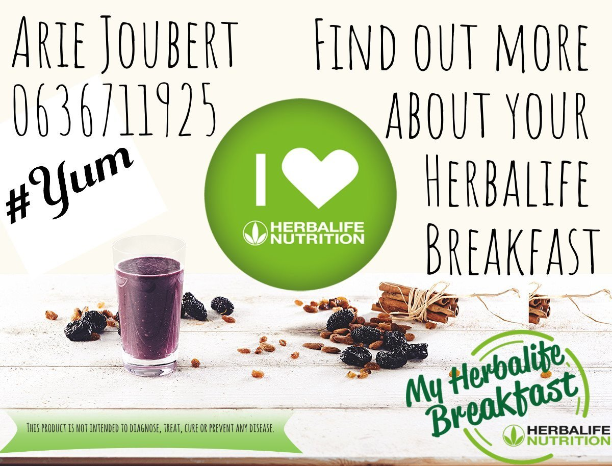 How did you start your day today? #HerbalifeShake #HerbalifeNutrition...