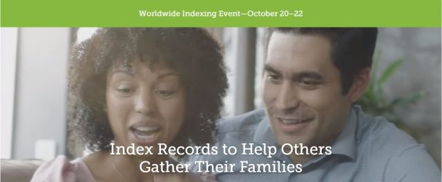 You ready to participate in the annual Worldwide #Indexing Event, October 20–22?  https:// ldsmediatalk.com/2017/10/16/wor ldwide-familysearch-indexing-event-oct-20-22/ &nbsp; …  #FamilySearch @FamilySearch<br>http://pic.twitter.com/M2HK7s4Pca