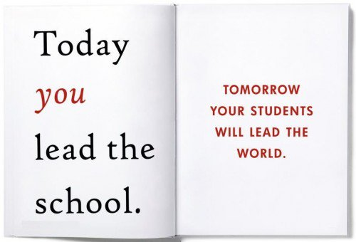 &quot;Today you lead the school. Tomorrow your students will lead the world.&quot; #MotivationMonday #teacher #educator <br>http://pic.twitter.com/lItRtpc3S9