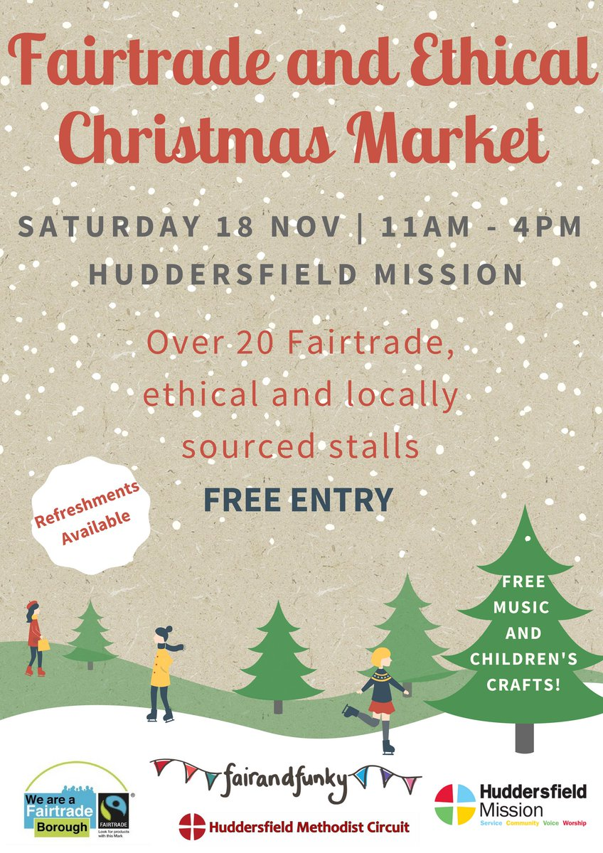4 spaces left for #stallholders at the #ethical &amp; #Fairtrade Christmas Market at @huddsmission on 18th November. Is this you?! #Huddersfield<br>http://pic.twitter.com/c5yX3xvU25