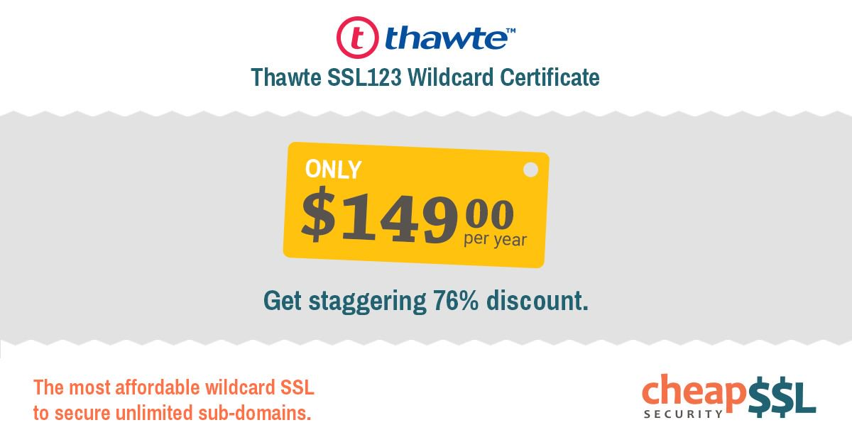 "cheapsslsecurity on twitter: ""76% off - thawte ssl123 wildcard ..."
