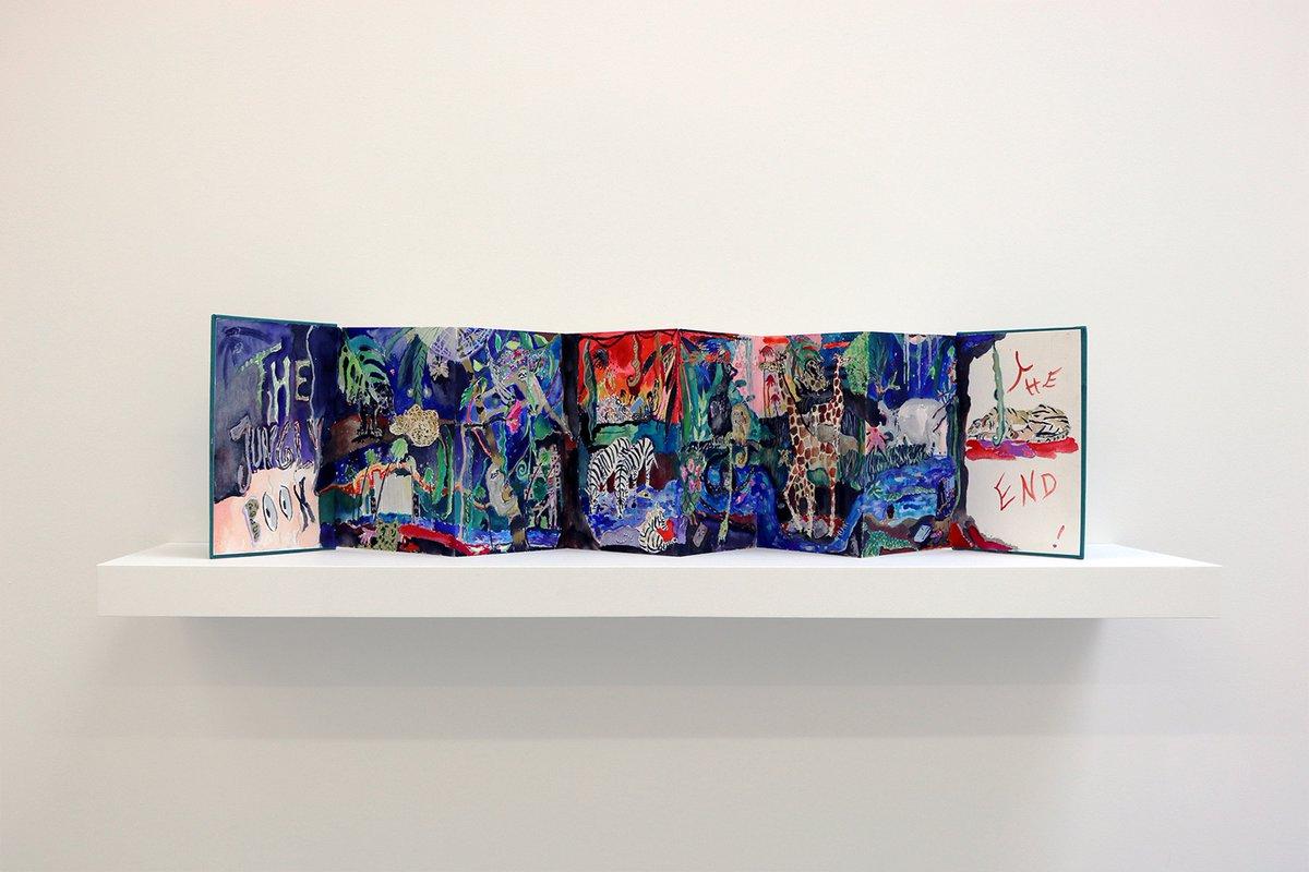 Emily Sundblad, &#39;Jungly Book,&#39; 2016, watercolor book via House of Gaga | Nova 2017 #artbasel <br>http://pic.twitter.com/oYHUzwaoHp