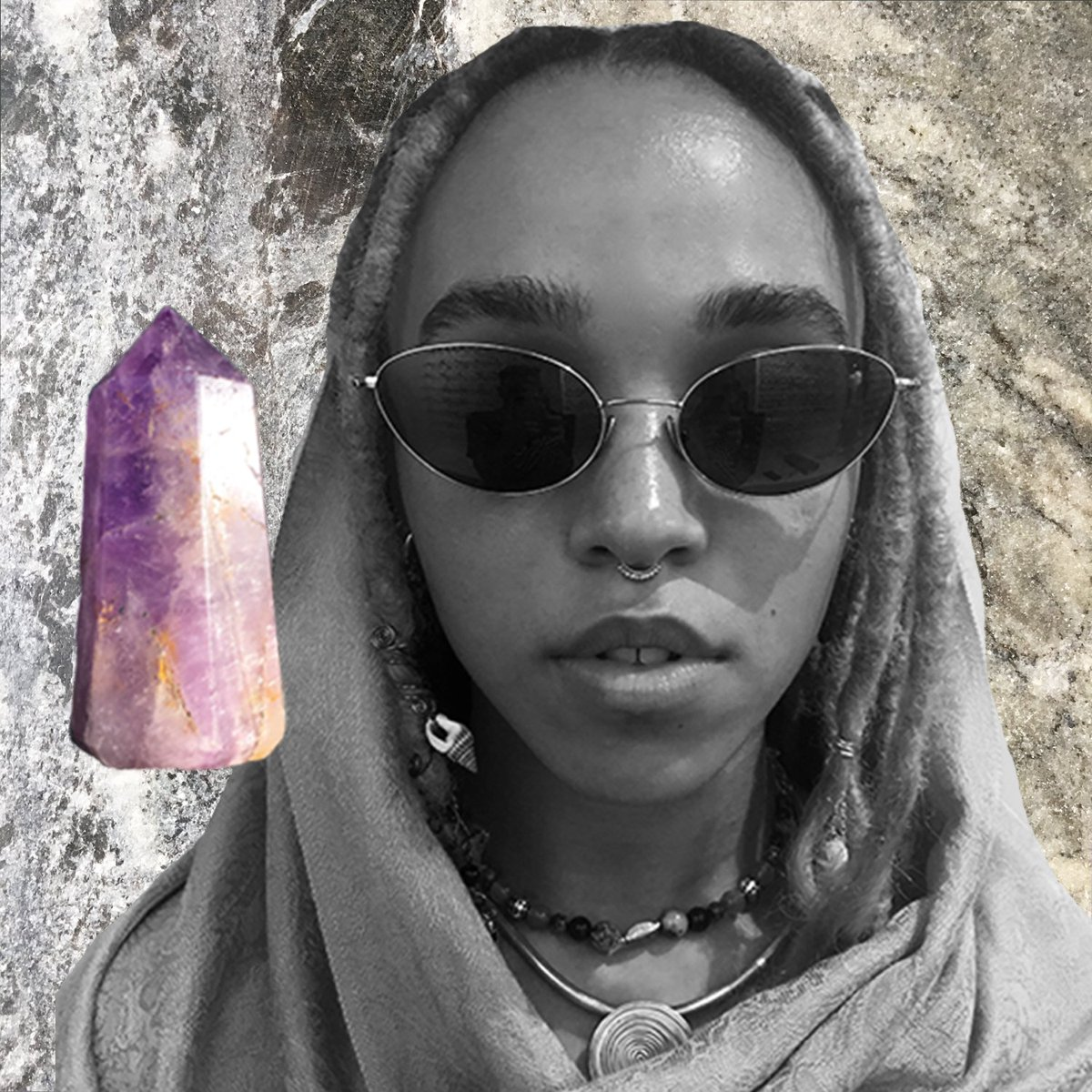 amethyst is connected with the crown chakra (sahasrara) and can assist with our quest for enlightenment <3