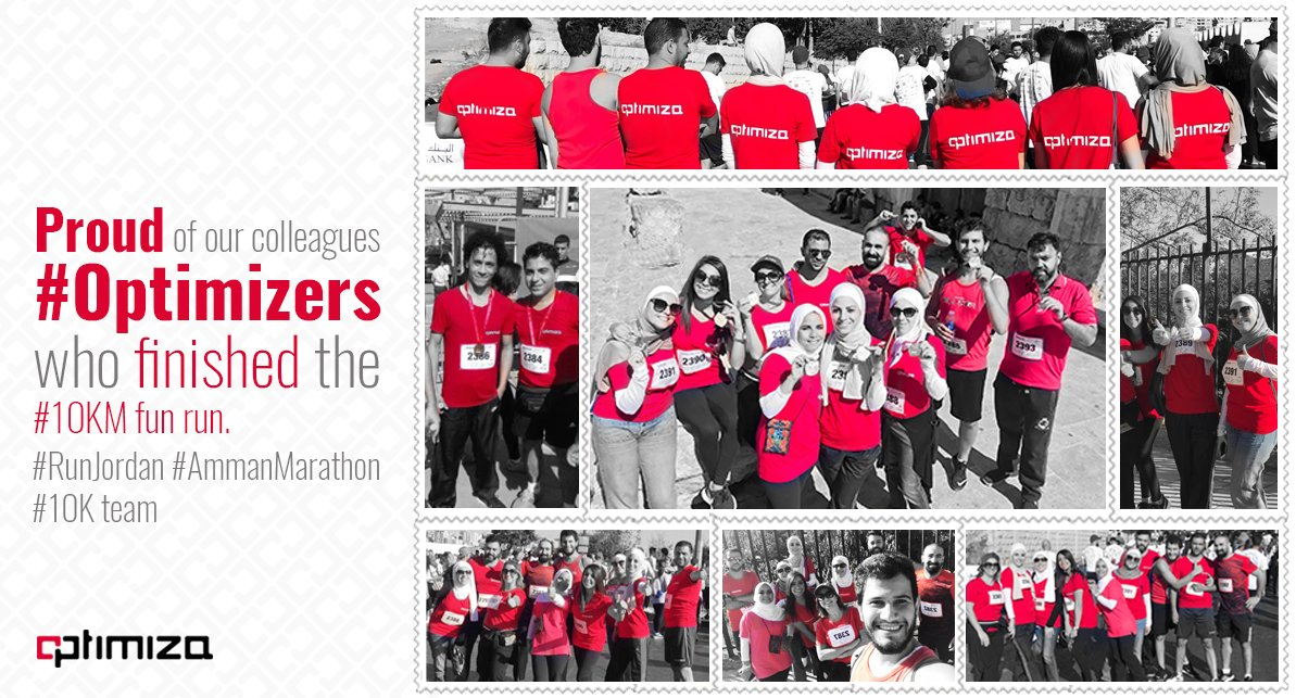 Proud of our colleagues #Optimizers who finished the #10KM fun run. #RunJordan #AmmanMarathon #10K team<br>http://pic.twitter.com/OYZytcbgKP