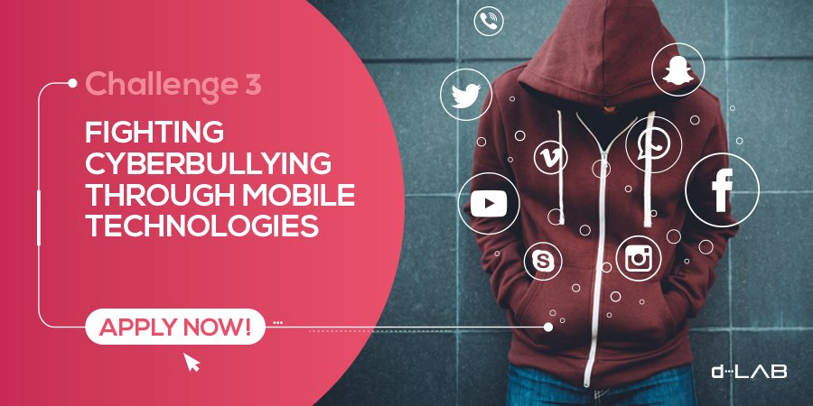 How can we empower young people to use technology in a better way? Share your idea:  https:// d-lab.tech/challenge-3/  &nbsp;   #tech4good #cyberbullying #tech<br>http://pic.twitter.com/NaCW8mEMIN