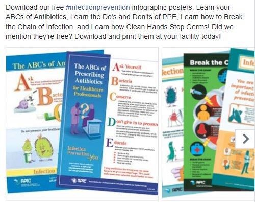 Download our free #infectionprevention infographic posters. Print/post/share these in patient care areas.  http:// professionals.site.apic.org/infographic/  &nbsp;   #IIPW<br>http://pic.twitter.com/DqFAM76DwU