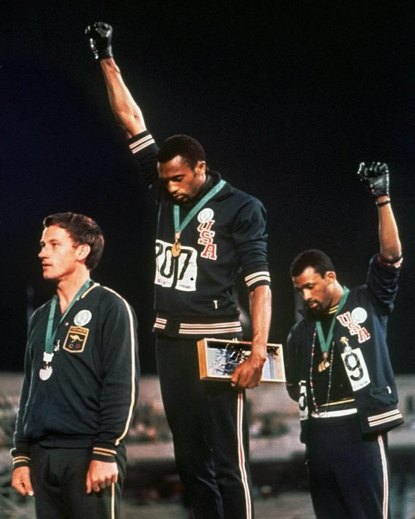 """an analysis of the 1968 summer olympics and black power salute Secondary sources include articles or books that provide analysis or  the """"black power salute"""" made  at the 1968 summer olympics in mexico city."""