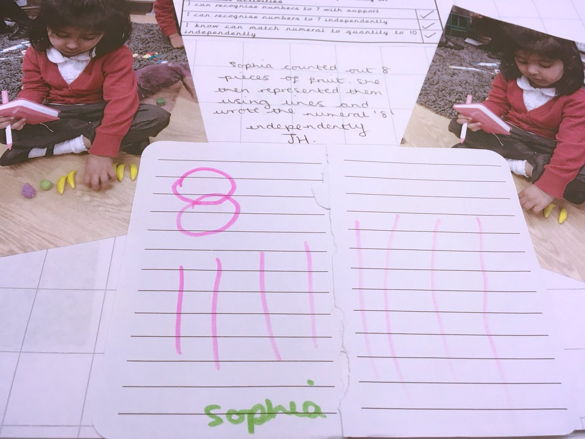 Recording our maths findings independently #Eyfs #maths #numbervalue #numbersense<br>http://pic.twitter.com/vfTRFATVop