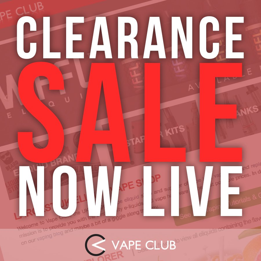We ve added more to our clearance sale check it out now https www vapeclub co uk e liquids cheap eliquid sale html