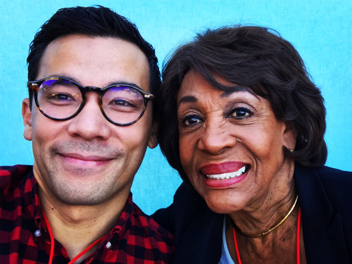 Highlight of the day. Sitting next to @repmaxinewaters at @aidswalkla....