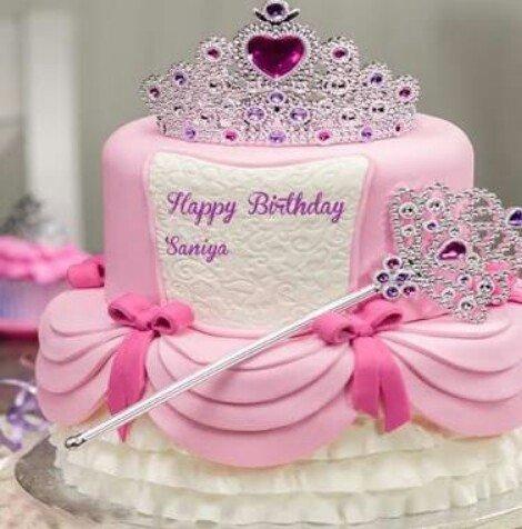 Birthday Cake Name Saniya Www Picswe Com