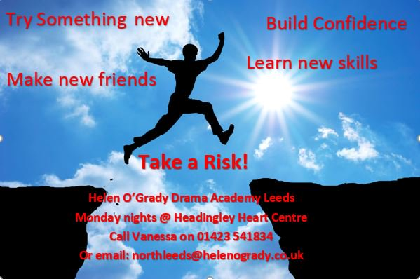First night of Adult drama classes for the term @HeadingleyHEART tonight! Sign up for 30% off the rest of the term - #dramaleeds #takearisk <br>http://pic.twitter.com/QWJDd81WVl
