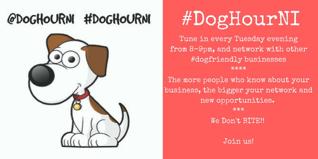Join us tomorrow for #DogHourNI and create new connections to help grow your business.