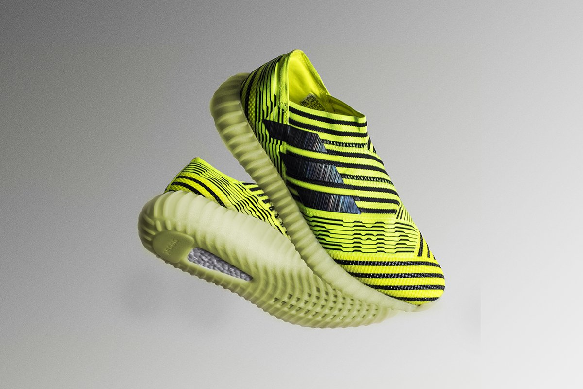 0a8bc33cdc02 this insane custom blends adidass nemeziz 17 and kanyes semi frozen yellow  yeezy boost