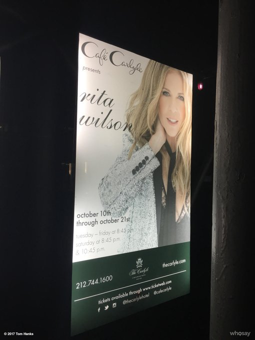 And don't miss this songstress at the famous Cafe Carlyle. Through Saturday nite! Hanx @RitaWilson https://t.co/J7OXJbfzIv
