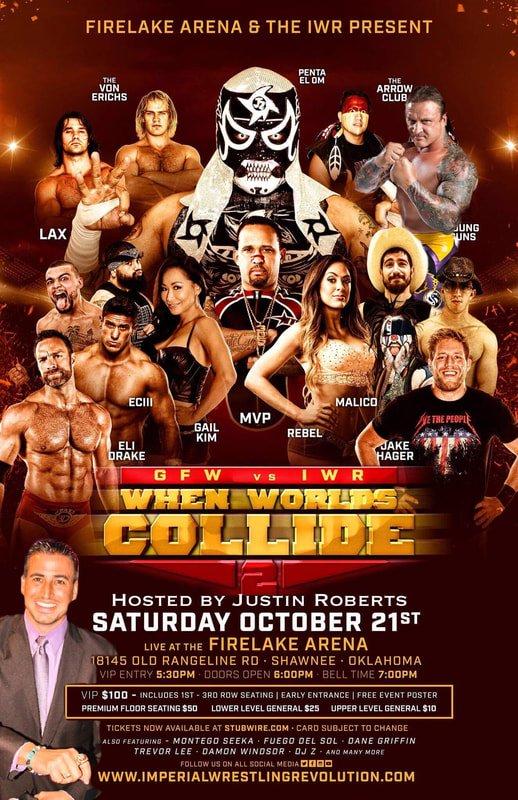#ImpactWrestling is working with #ImperialWrestlingRevolution on Sat October 21st at the #FireLakeArena in #Shawnee, #Oklahoma<br>http://pic.twitter.com/RcLNmnQDge