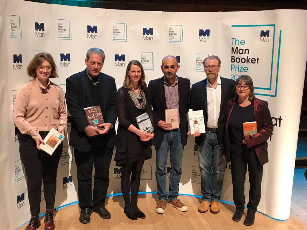 Our #ManBooker2017 shortlisted authors ready for the readings tonight...