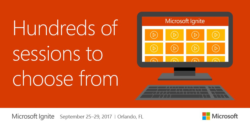 Thousands of hours of content from #MSIgnite 2017 are now available:  http:// msft.social/SrfSkO  &nbsp;  <br>http://pic.twitter.com/ytXgyCPIgE