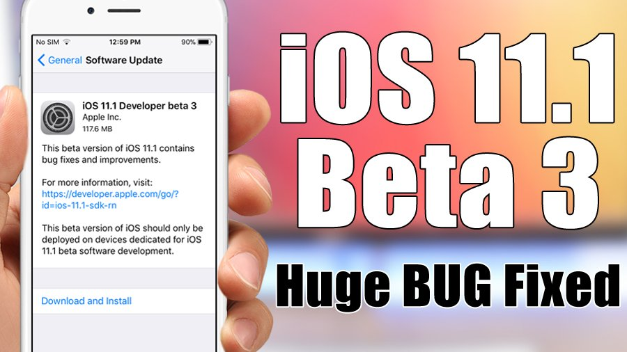 New Video !!! #ios11  iOS 11.1 Beta 3 Released - Huge Bug FIXED   https://www. youtube.com/watch?v=Zsn4dl 827Tk &nbsp; … <br>http://pic.twitter.com/xrq0vTWM6n