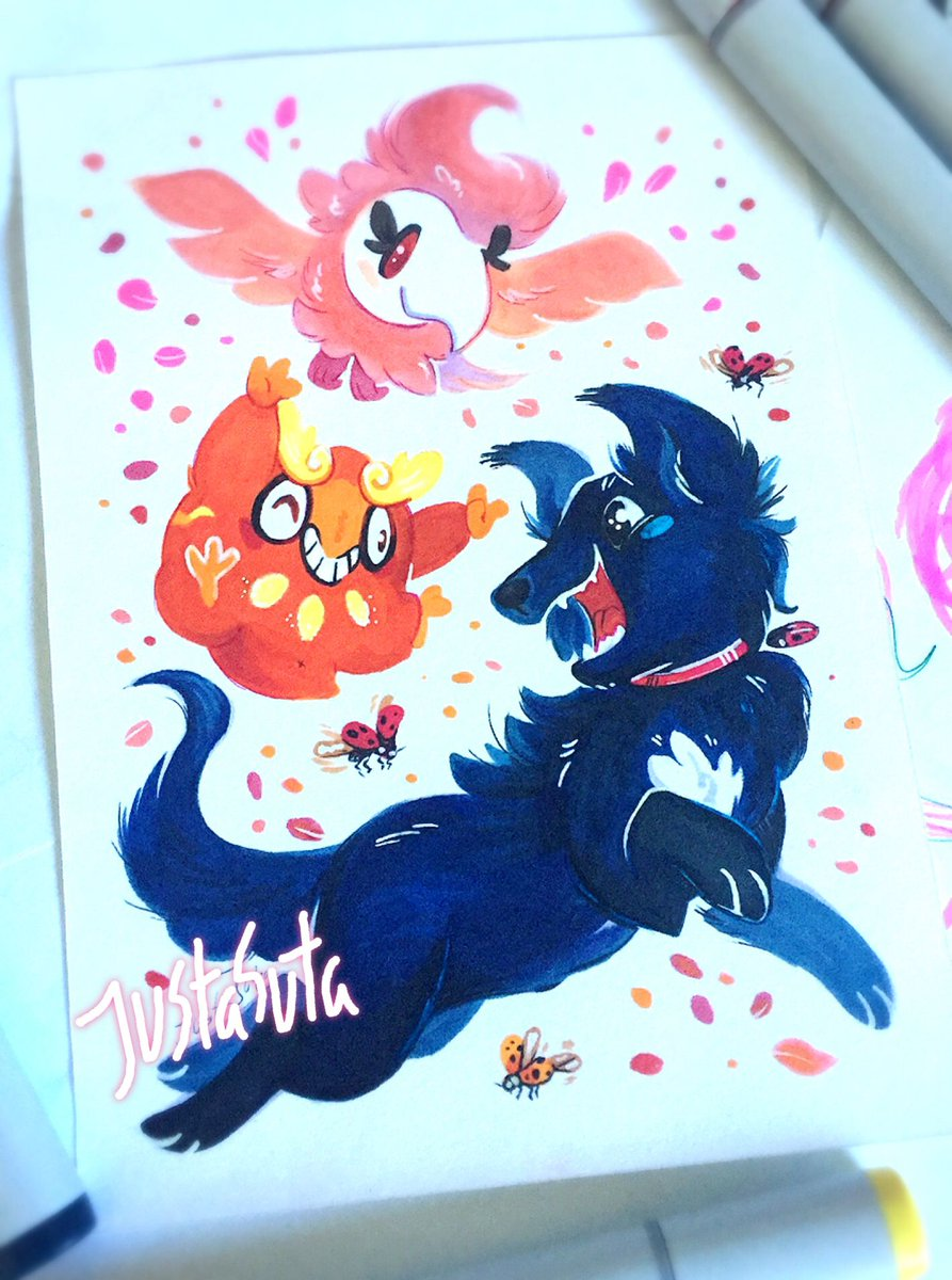 A birthday present for a friend #dogs #Pokemon #copicmarkers #ladybug #artistsontwitter<br>http://pic.twitter.com/HxhhMHBEeg
