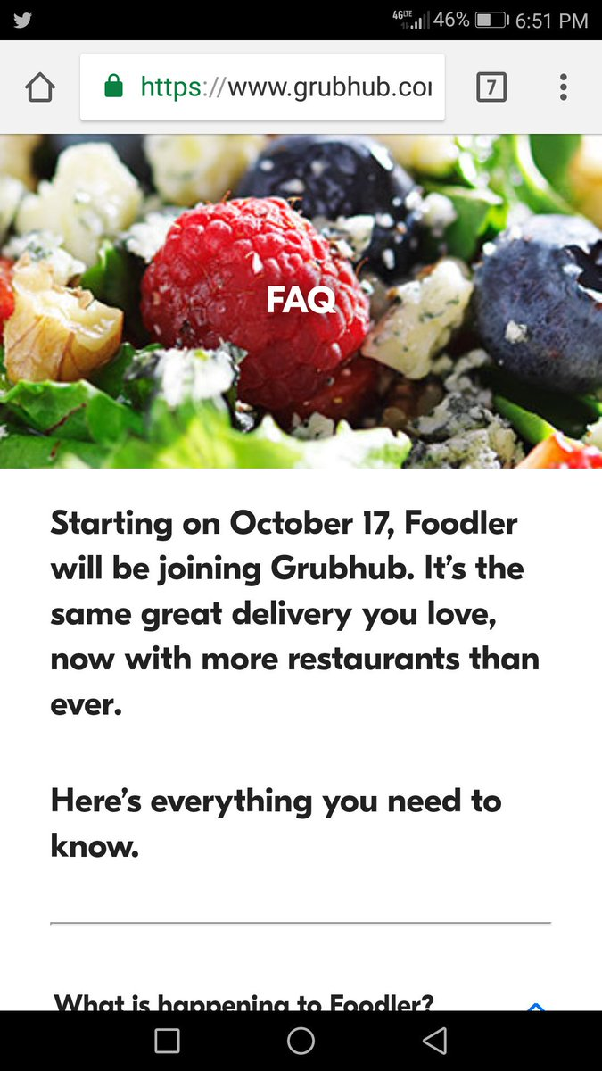 Pass the 'Grub' 'cause @Foodler  has served it's last meal. @Grubhub #Food
