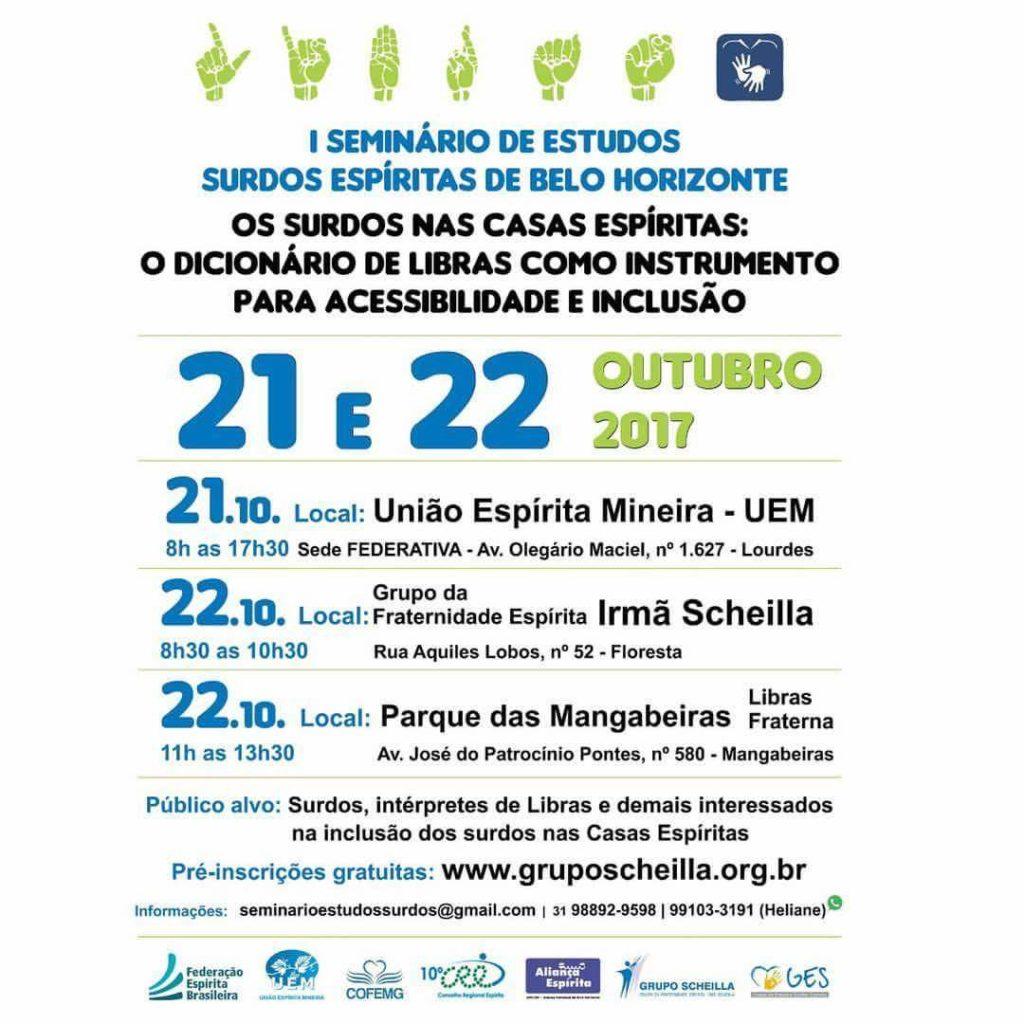 I Seminário de Estudos Surdos Espíritas de Belo Horizonte, MG - https:...